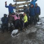 The team on Uhuru Peak, the top of Africa! (Dustin Balderach)