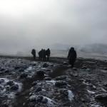Traversing the crater rim on the way to Uhuru Peak (Dustin Balderach)