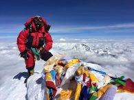 IMG Guide Josh McDowell on the summit of Everest