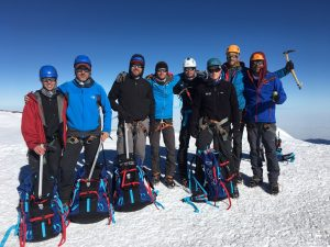 The Emmons team on the summit. (Photo by Austin Shannon)
