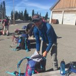 Guide Rob Jantzen packing up before leaving Paradise