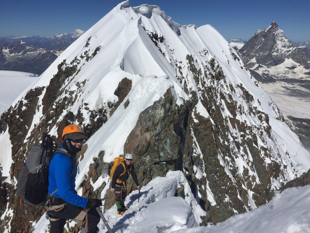 Climbers on the Breithorn Traverse, Zermatt (Matt Farmer)
