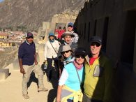 The group touring the ruins of Ollantalltambo. (Peter Anderson)