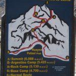 Huayna Potosi Map and Altitudes (Greg Vernovage)