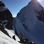 Heading towards the summit ridge. (Mike Hamill)