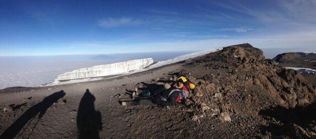 Nearing the summit of Kilimanjaro (Photo Dustin Balderach)