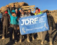 IMG climbers on the summit of Kilimanjaro bringing attention to the Juvenile Diabetes Research Foundation