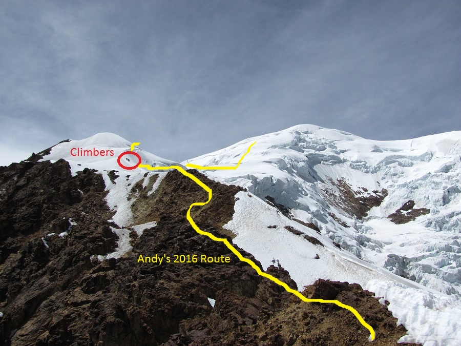 Andy's climbing route. (Greg Vernovage)