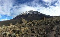 Kili on the hike to Barafu (Dustin Balderach)
