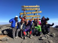 Kili Team on Summit (Phunuru Sherpa)