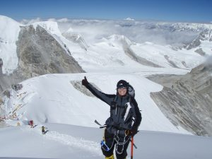 Thumbs Up Above Camp 1 (Greg Vernovage)