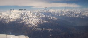 Big Peaks Seen from the KTM-Lhasa Flight Include Cho Oyu, Gyachung Kang, Everest, Lhotse, Makalu (Eric Simonson)
