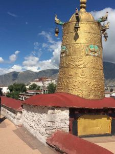 View of the Potala Palace from the roof of the Jokhang Temple (Ang Jangbu)