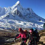 Climbing Chukkung Ri with Ama Dablam in the background (Tye Chapman)