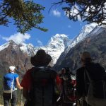 Trekking up Namche hill (Tye Chapman)