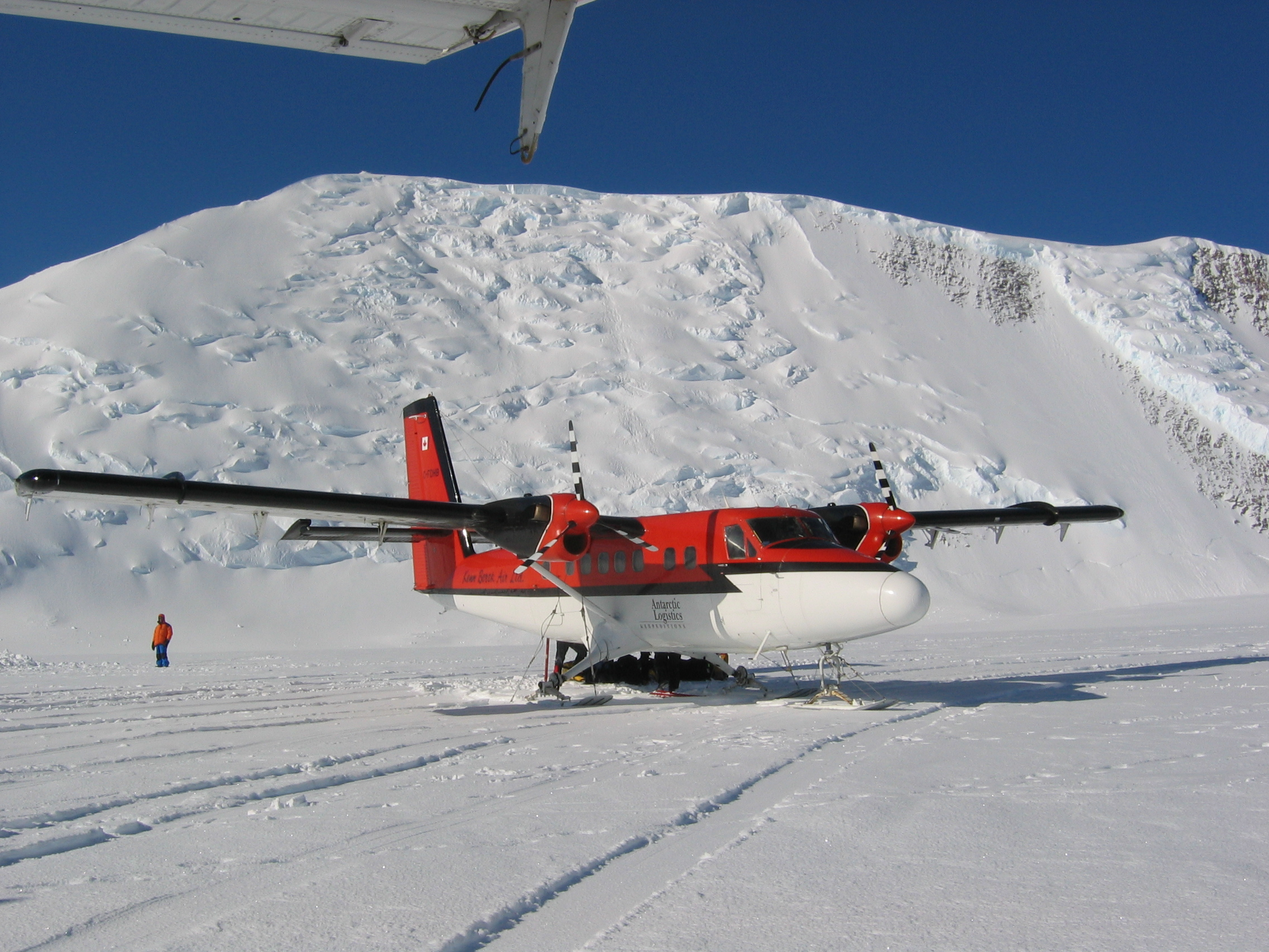 Twin Otter at Vinson base camp
