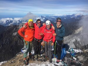 October 2016 Carstenz team on the summit. (Brury)