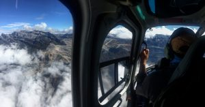 Flying past the Freport mine in the B-3 helicopter on the way to Nasidome. (Jonathan Schrock)