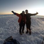 Romulo and Eric on the summit of Chimborazo (photo: Eric Huang Collection)