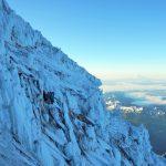 Climbers in the Kautz Ice Chute (Photo: to Pattie O'Rourke)