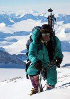 Phil Ershler guiding on upper Vinson (photo: Jason Tanguay)