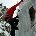 Working on technique at Ouray (Justin Merle)
