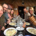 Dinnertime at Los Cuernos. (Chris Meder)