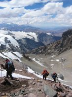 Return to C1 on Aconcagua
