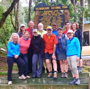 Kilimanjaro Team at the Machame Gate, Ready to Go!  (Emily Johnston)