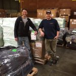 Greg Vernovage (left) and Tye Chapman (right). Weighed & wrapped it came to 4 pallets totalling 2253 pounds!