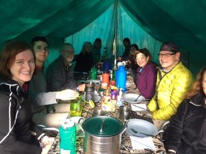 Breakfast at Machame Camp (Photo: Emily Johnston)