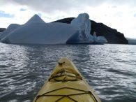 Kayak on Lago Grey