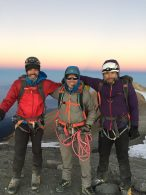 Team on the summit of Ixta