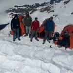 Liberty Ridge team at Thumb Rock. (Justin Merle)