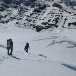 Approaching the base of Liberty Ridge (Justin Merle)