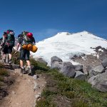 Ascending the Railroad Grade trail to base camp. (photo: Charles Peterson)