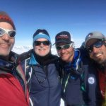 Eric, Anthony, Andy, and Matteo on the summit. (Eric Simonson)