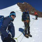 Heading up the summit ridge (Eric Simonson)