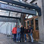 The crew in St. Petersburg. (Charlotte Austin)