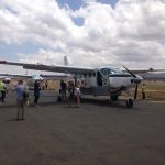 Boarding the plane for Serengeti flight (Dustin Balderach)