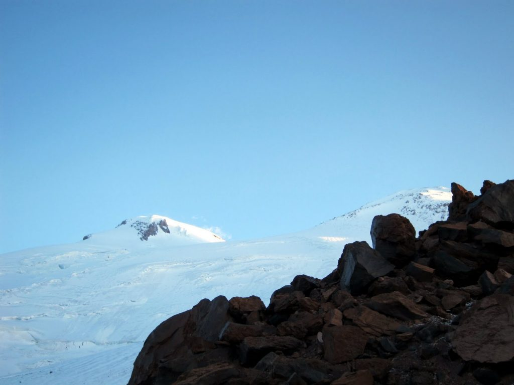 Elbrus, West Summit is on the left