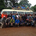 Craig John and his IMG Kili Team back to Mweka Gate, ready to head down to Moshi (Craig John)