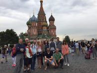 Team in front of St. Basil's