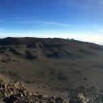 The alien landscape of Kili's summit crater (Dustin Balderach)