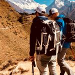 IMG Guides Harry Hamlin and Austin Shannon with Ama Dablam, Lhotse and Everest (Sherpa Fura)