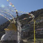 Prayer Flags in Namche (Tye Chapman)