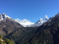 Right to Left-Ama Dablam, Lhotse and Everest (Tye Chapman)
