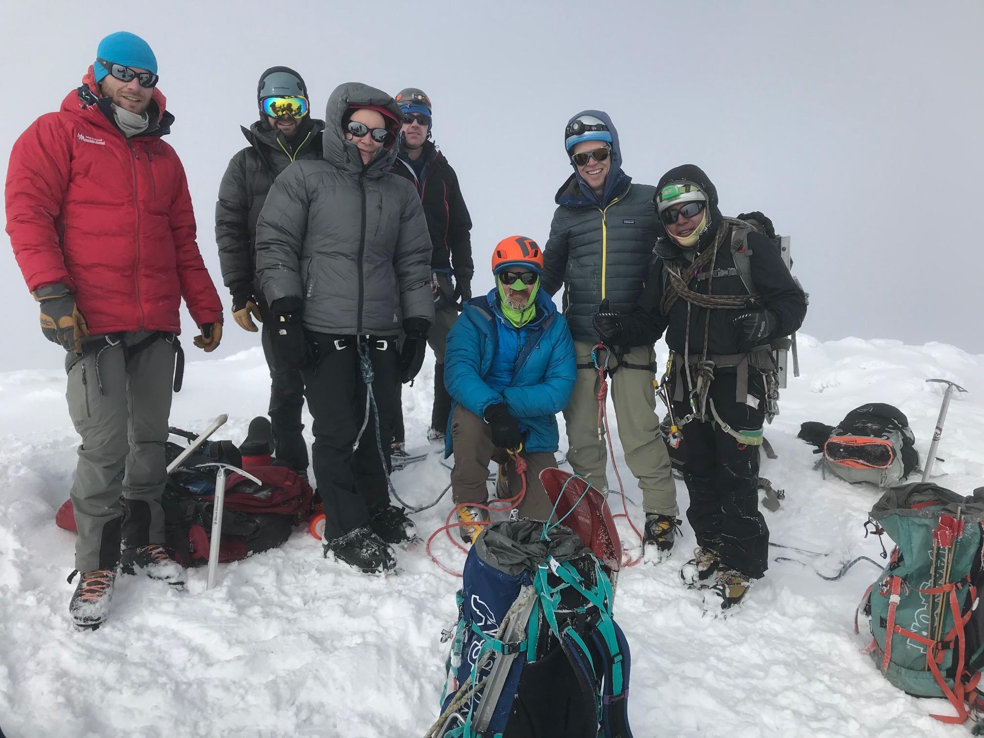 Team on summit of Cayambe – 19,000'