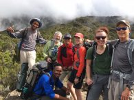 IMG Climbers on the way to Shira Camp (Phunuru Sherpa)