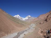 Above the Relinchos River with Aconcagua and Ameghino in the Distance (Peter Bilodeau)